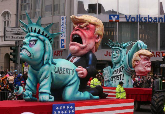 IN PICS: German Carnival floats show Trump no mercy