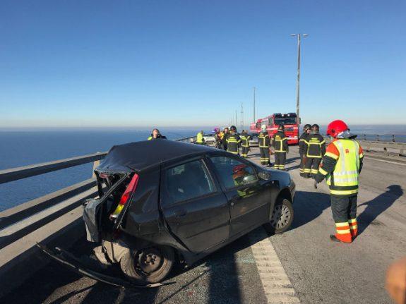 14 injured in 'biggest accident' on Öresund Bridge