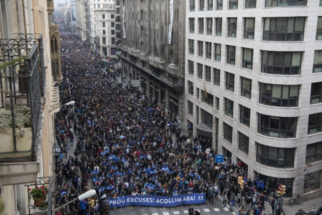 IN PICTURES: 160,000 pro-immigration protesters hit the streets of Barcelona