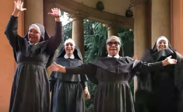 Dancing nuns go viral with Italian Eurovision parody