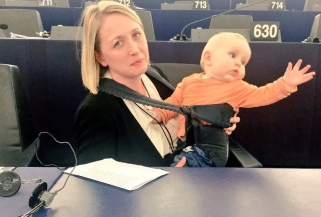 Why a Swedish MEP took her baby to vote in parliament (and went viral)