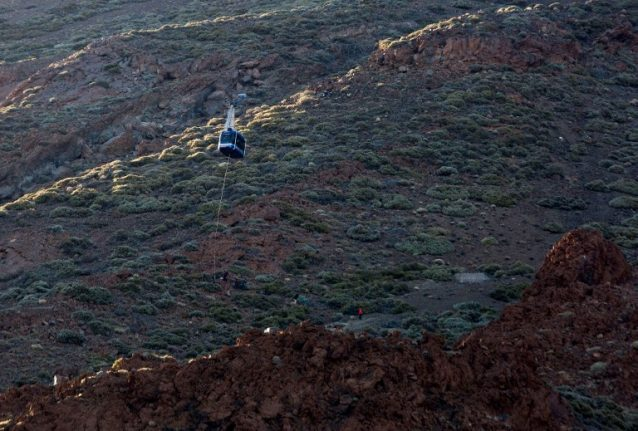 More than 100 evacuated from top of Spanish volcano after cable cars stall mid-air