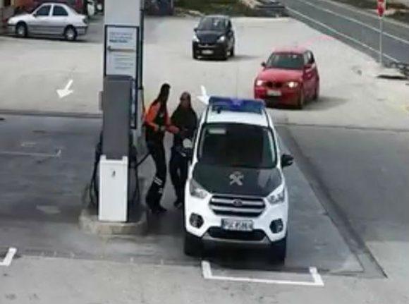 WATCH: Speeding car's near miss with police patrol at petol pump