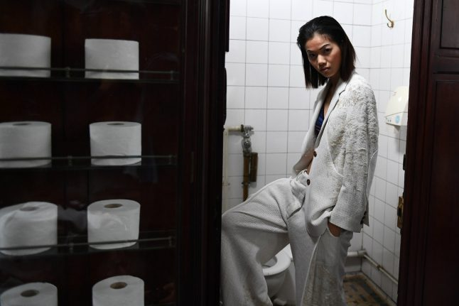Toilet show is light relief at Paris fashion week
