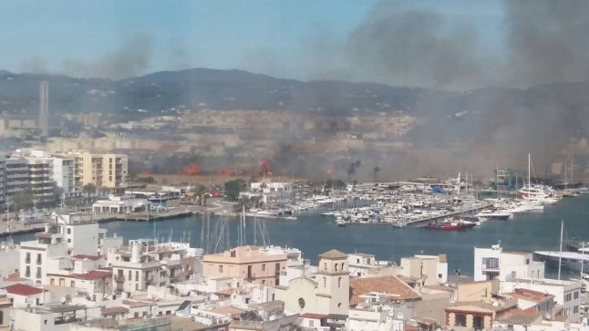 IN PICS: Wildfire rages in Ibiza