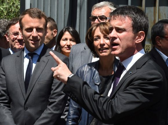 Macron earns backing from Valls but vows to 'renew faces' in French politics