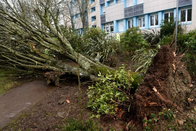 Two killed and 220,000 homes without power as storm Zeus lashes France