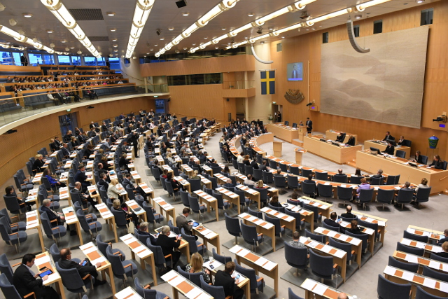 Swedish parliament holds its first war drill in two decades