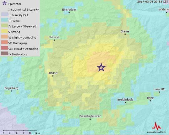 Switzerland shaken by biggest earthquake for 12 years