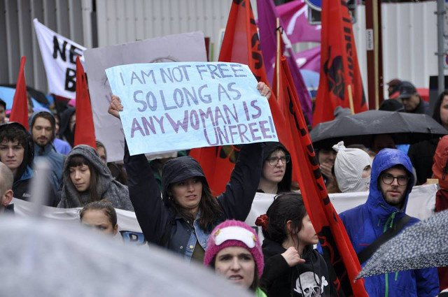 Thousands march for women's rights in Zurich