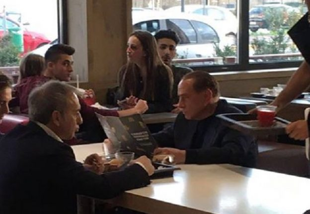Berlusconi eats at McDonald's, goes viral