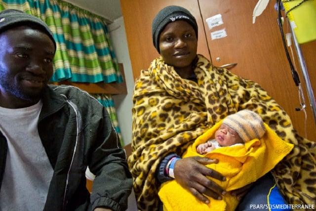 Baby girl born on migrant rescue boat