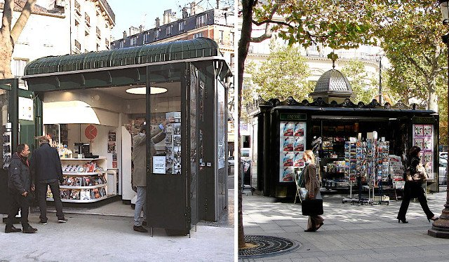 Paris rolls out first modern news kiosk to replace iconic newspaper stands