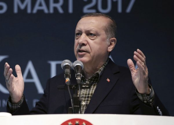 Erdogan likens Germany's blocking rallies to Nazis