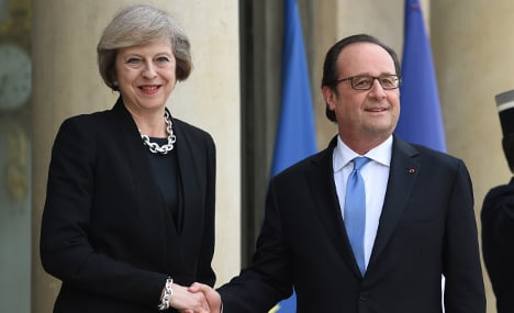 Hollande says no trade deal before Brexit as May pens letter to France