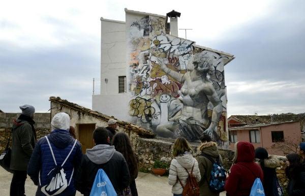 IN PICS: Street art revives divided Spanish village