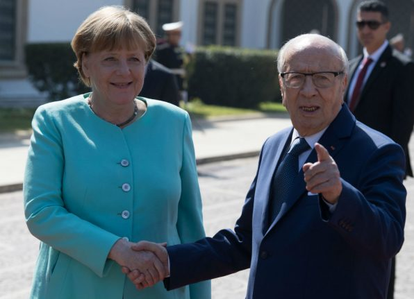 Merkel announces new migration deal on trip to Tunisia