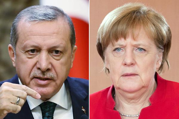 Merkel calls for calm as row erupts over Erdogan's Nazi jibe
