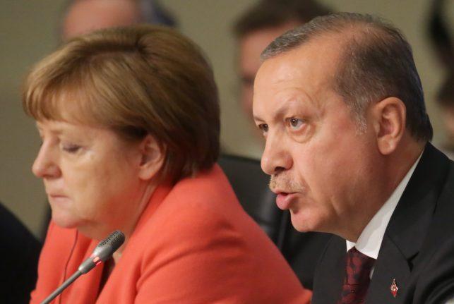 Turkey accuses Merkel of 'supporting terrorists'