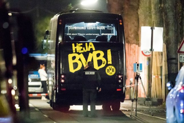 Police arrest man for 'bombing Borussia Dortmund bus for money'