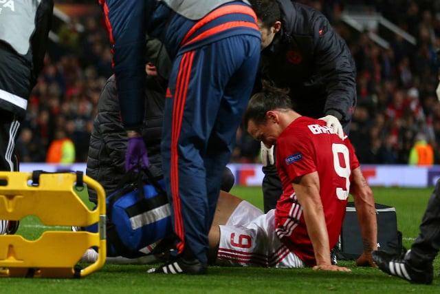 Zlatan Ibrahimovic injury mars Man Utd's Europa progress