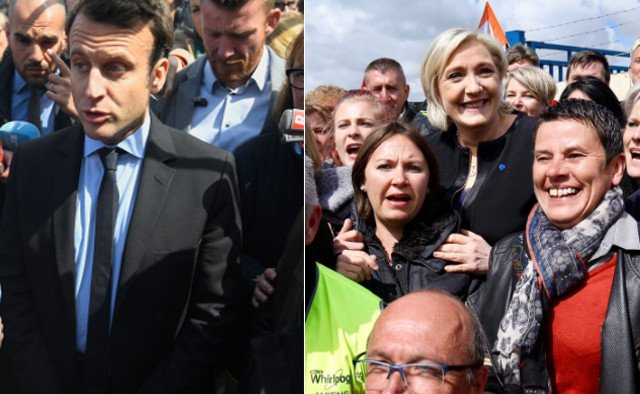 The Battle of Amiens: Macron jeered by Whirlpool workers after Le Pen's publicity stunt