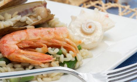 An Italian recipe for Easter: How to make asparagus and prawn risotto