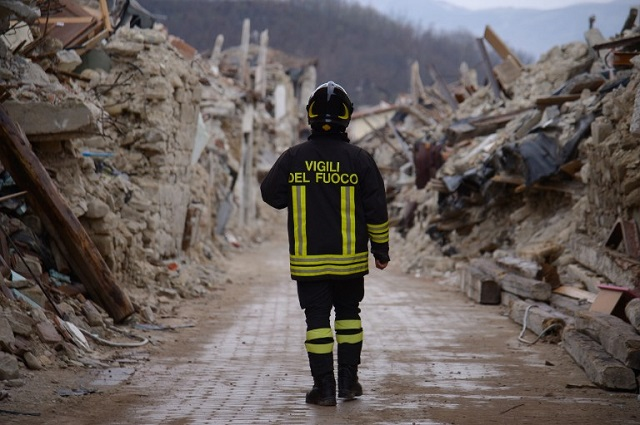 IN VIDEOS: Italy's firefighters continue tireless work to rebuild quake-hit region