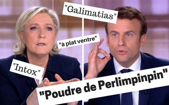 The new French words we learned thanks to Macron and Le Pen's verbal joust