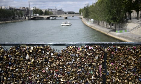 'Love locks' to go under the hammer in Paris charity auction