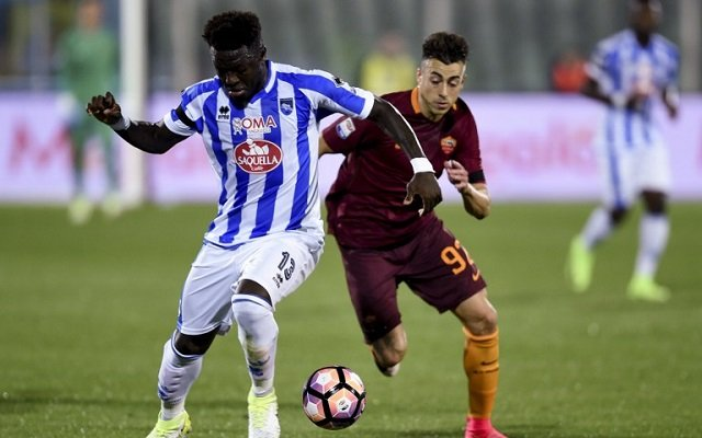 Pescara player walks off pitch in protest over 'racist chants'