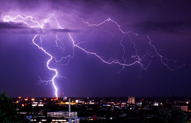 Lightning set to strike Wednesday, from Hamburg right down to Munich