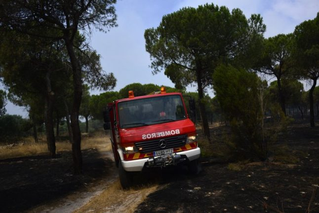 In pics: Spain battles wildfire near Doñana nature reserve