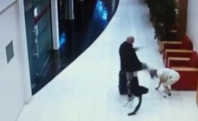Swedish tourist caught on camera kicking hotel maid unconscious