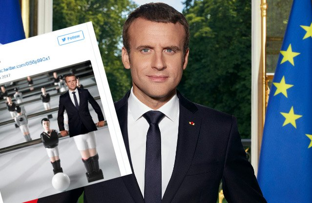 Macron unveils official presidential portrait and French tweeters had a field day