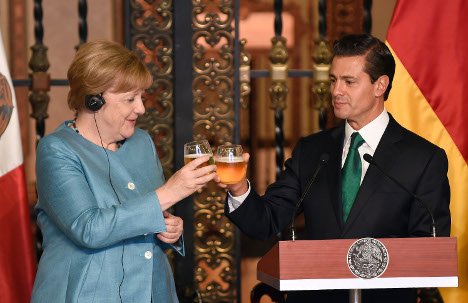 Mexico to Merkel: we want 'significant increase' in trade