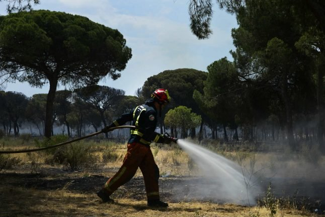 Hundreds flee as fire spreads at Spanish nature reserve