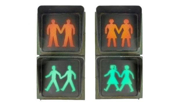 Madrid gets 'gay friendly' traffic lights for Pride