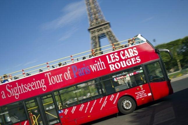 Paris open-top tourist bus crashes into iconic bridge leaving four injured