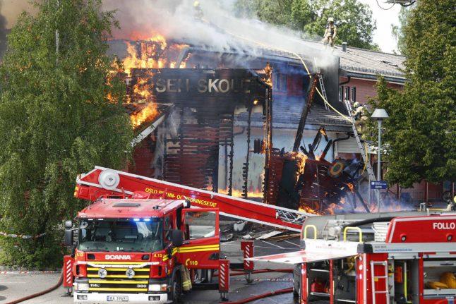 Arson suspected in Oslo school fire: police