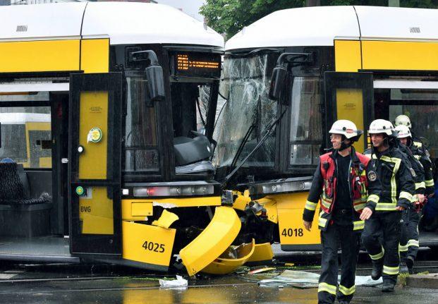 Twenty-seven injured in serious tram crash in north Berlin