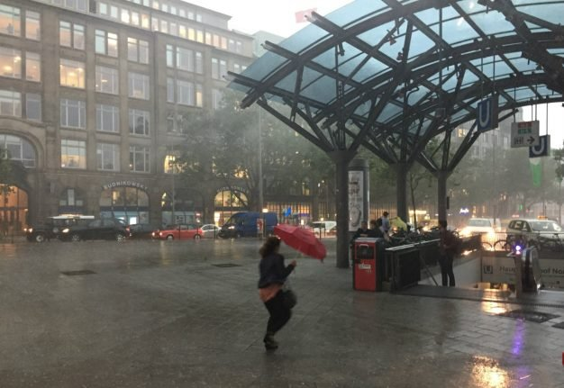 Trains cancelled across north Germany as fierce storms kill one