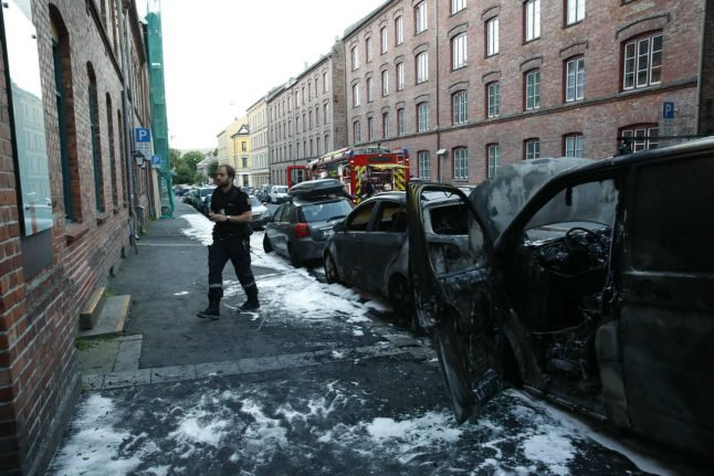 Eight cars burn in latest suspected Oslo arson