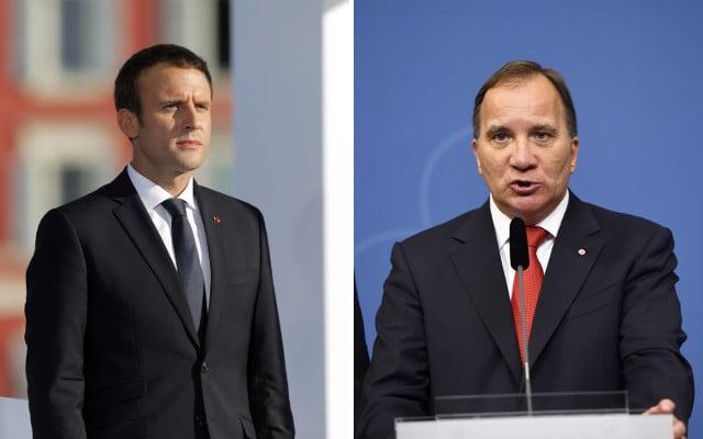 Swedish PM Löfven to meet French President Macron in Paris