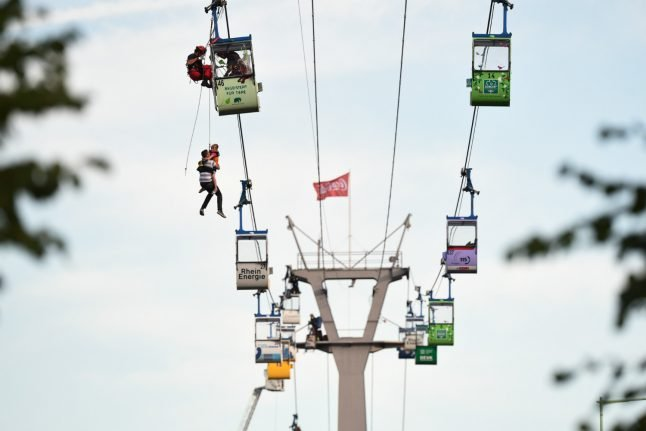 Investigation starts after dramatic cable car rescue in Cologne