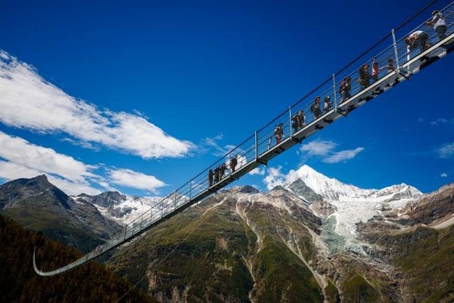IN PICS: World's longest suspension bridge opens in Switzerland