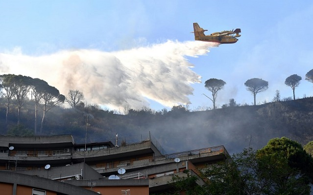 Two reported dead in Italy's wildfires