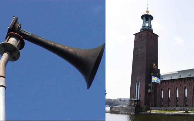 False alarm: accidental triggering of public warning siren confuses Stockholmers