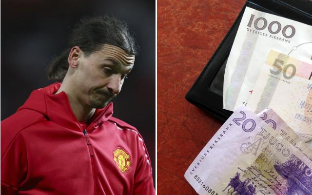 Zlatan Ibrahimovic immortalised on giant '1,000 kronor' note