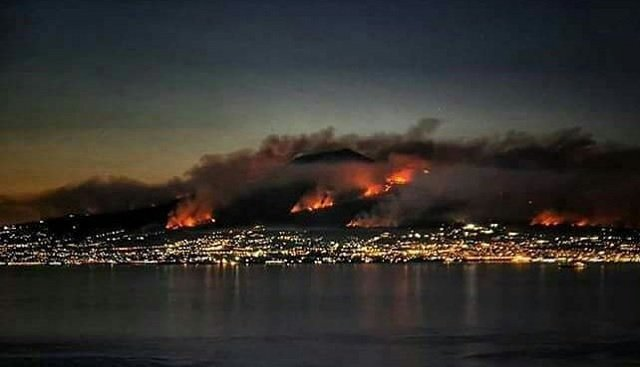 Wildfires continue to rage across Italy as police blame arsonists for Vesuvius blaze